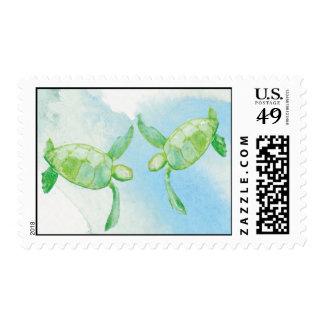 Honu Turtle Postage Stamp