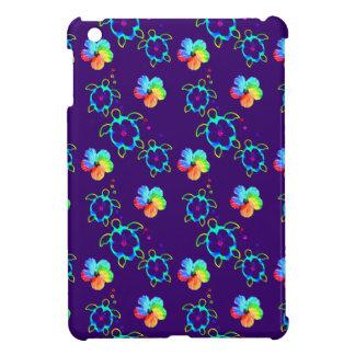 Honu Turtles and Tie Dyed Hibiscus iPad Mini Case