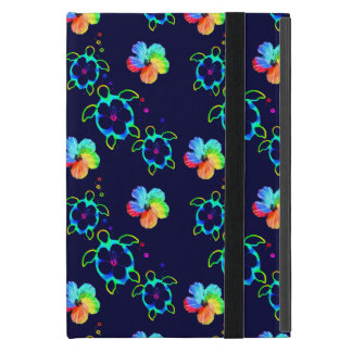 Honu Turtles and Tie Dyed Hibiscus iPad Mini Cases