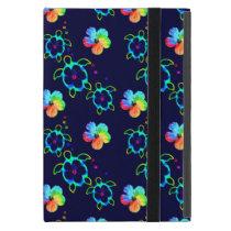 Honu Turtles and Tie Dyed Hibiscus iPad Mini Cover