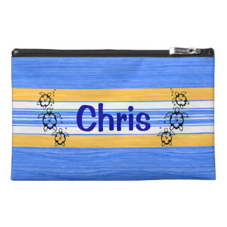 Honu Turtles Blue Stripes Travel Accessories Bags