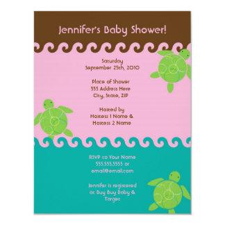 Honu Waves Baby Shower - 4.25 x 5.5 Card