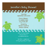 Honu Waves Baby Shower - Blue - Square Announcements