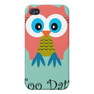 Hoo Dat in Aqua  iPhone Case Covers For iPhone 4