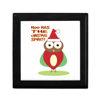 HOO HAS THE CHRISTMASS SPIRIT? JEWELRY BOXES