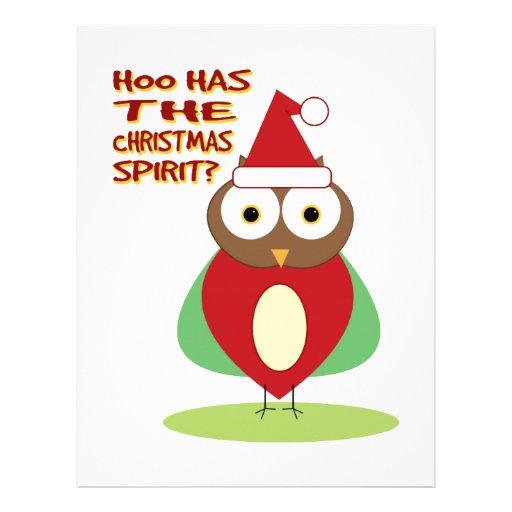 HOO HAS THE CHRISTMASS SPIRIT? LETTERHEAD DESIGN