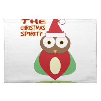 HOO HAS THE CHRISTMASS SPIRIT? PLACE MAT