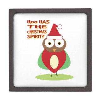 HOO HAS THE CHRISTMASS SPIRIT? PREMIUM TRINKET BOXES