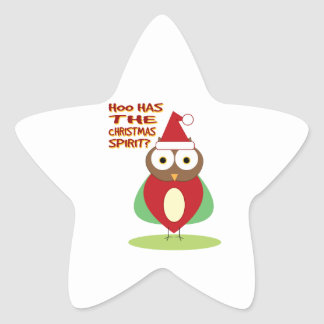 HOO HAS THE CHRISTMASS SPIRIT? STICKERS