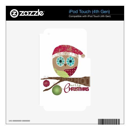 Hoo, Hoo, Hoo, Felices Navidad Calcomanía Para iPod Touch 4G