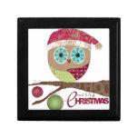 Hoo, Hoo, Hoo, Merry Christmas Jewelry Box