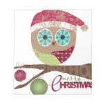 Hoo, Hoo, Hoo, Merry Christmas Memo Pads