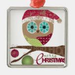 Hoo, Hoo, Hoo, Merry Christmas Ornament