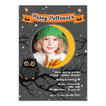 Hoo Hoo Photo Halloween Invitation