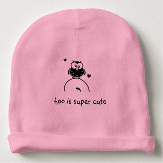 hoo is super cute baby beanie