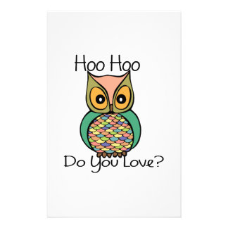 Hoo Love Personalized Stationery