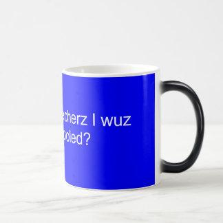 Hoo needz teecherz I wuz home skooled? Magic Mug