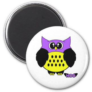 Hoo Pudgie Pet 2 Inch Round Magnet