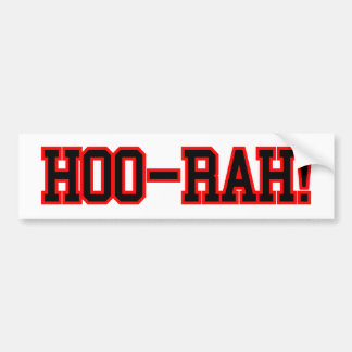 HOO RAH CAR BUMPER STICKER