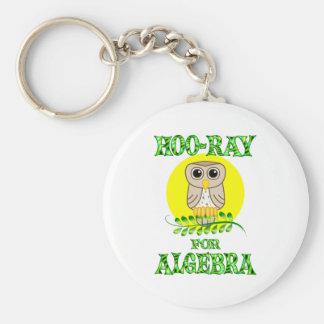 Hoo-Ray for Algebra Basic Round Button Keychain