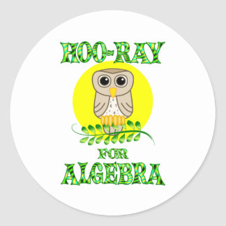 Hoo-Ray for Algebra Round Stickers