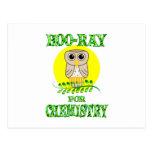 Hoo-Ray for Chemistry Postcard