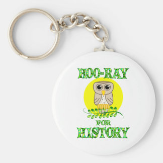Hoo-Ray for History Basic Round Button Keychain