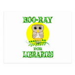 Hoo-Ray for Libraries Post Card