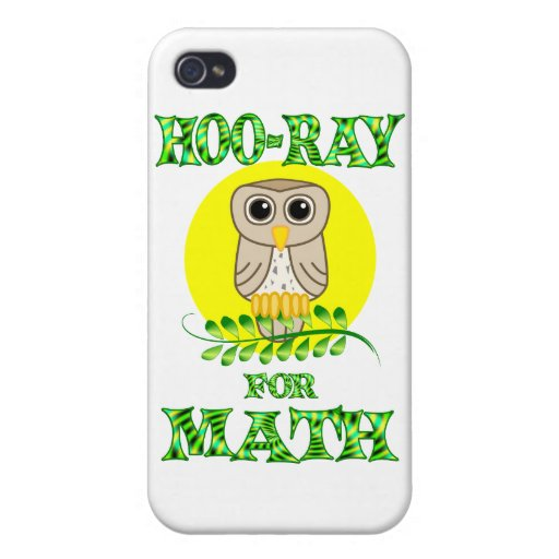 Hoo-Ray for Math iPhone 4/4S Covers