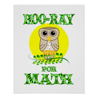 Hoo-Ray for Math Poster