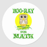 Hoo-Ray for Math Stickers