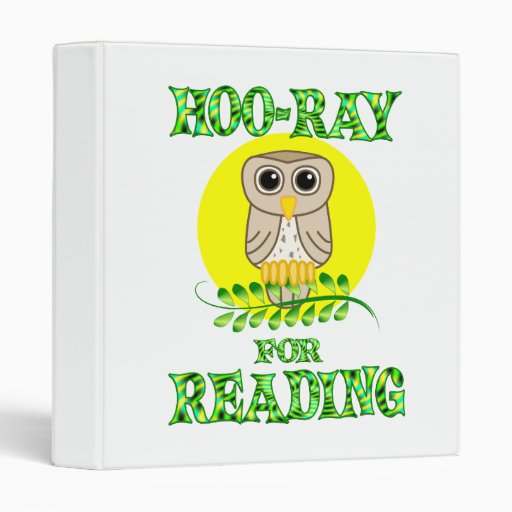 Hoo-Ray for Reading 3 Ring Binders