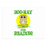 Hoo-Ray for Reading Post Card