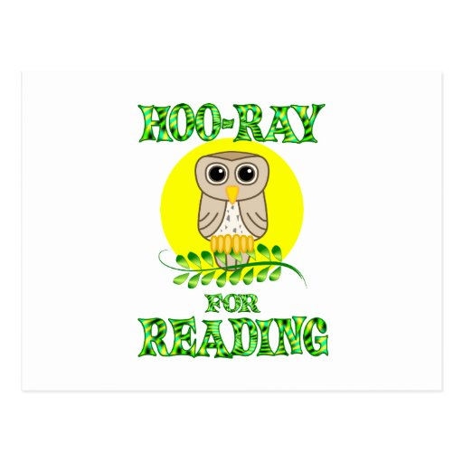 Hoo-Ray for Reading Postcard