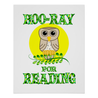Hoo-Ray for Reading Poster