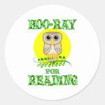 Hoo-Ray for Reading Sticker