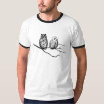 Hoo-Tee Owls Ringer T-Shirt