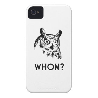 Hoo Who Whom Grammar Owl Case-Mate iPhone 4 Case