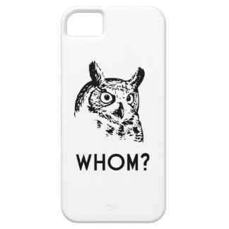Hoo Who Whom Grammar Owl iPhone 5 Cover