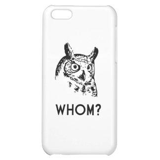 Hoo Who Whom Grammar Owl iPhone 5C Cases