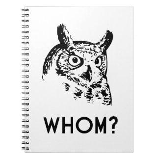 Hoo Who Whom Grammar Owl Note Book