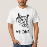 Hoo Who Whom Grammar Owl T Shirt