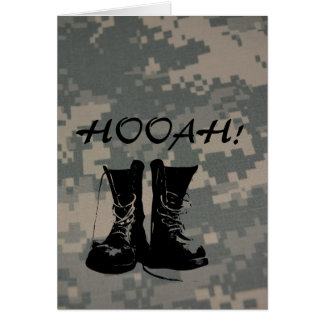 Hooah Camouflage ACU Pattern Troops Deployment Vet Card