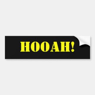 HOOAH! CAR BUMPER STICKER