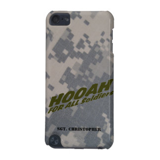 """""""Hooah For All Soldiers"""" Personalized iPod Touch 5G Case"""