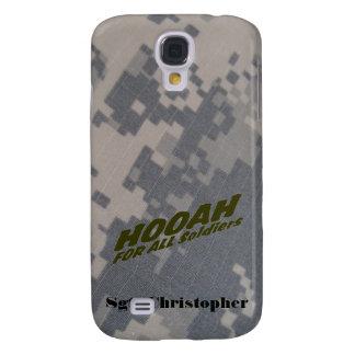 Hooah para todos los soldados, personalice funda para galaxy s4