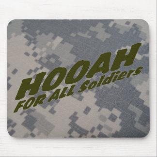 Hooah para todos los soldados alfombrilla de ratones