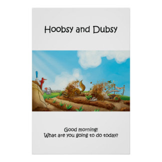Hoobsy y Dubsy - 2 que cultivan un huerto - poster
