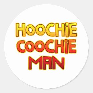 Hoochie Coochie Man Classic Round Sticker