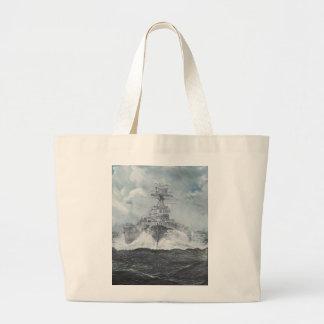 Hood heads for Bismarck 23rdMay 1941. 2014 Large Tote Bag